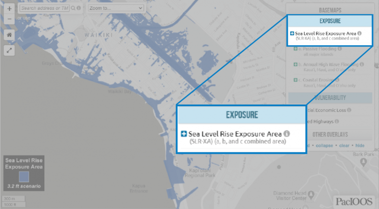location of Sea Level Rise Exposure Area