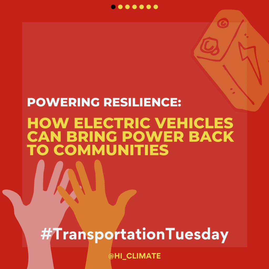 #TransportationTuesday Slide Deck - Powering Resilience